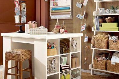 Как организовать хранение в открытых и застекленных шкафах и на навесных полках на кухне