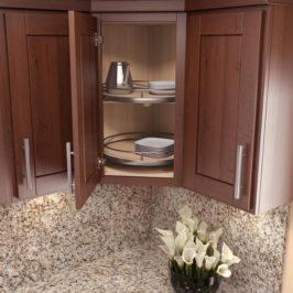 Как организовать хранение в угловых шкафах на кухне — 2