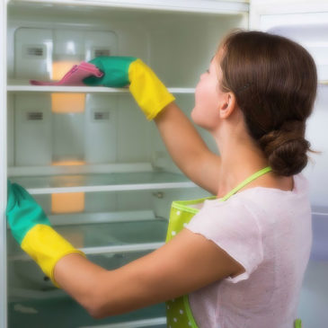 Наводим чистоту в холодильнике