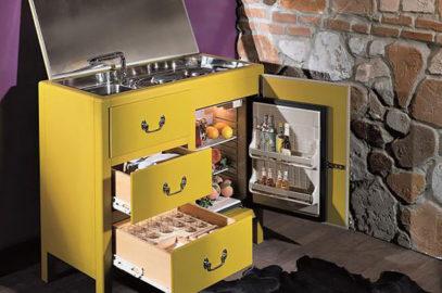 Мини-кухни для малогабаритных квартир и дачных домиков